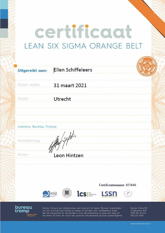 orange belt lean